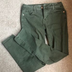 Camouflage Green Mid Rose Skinny Jeans